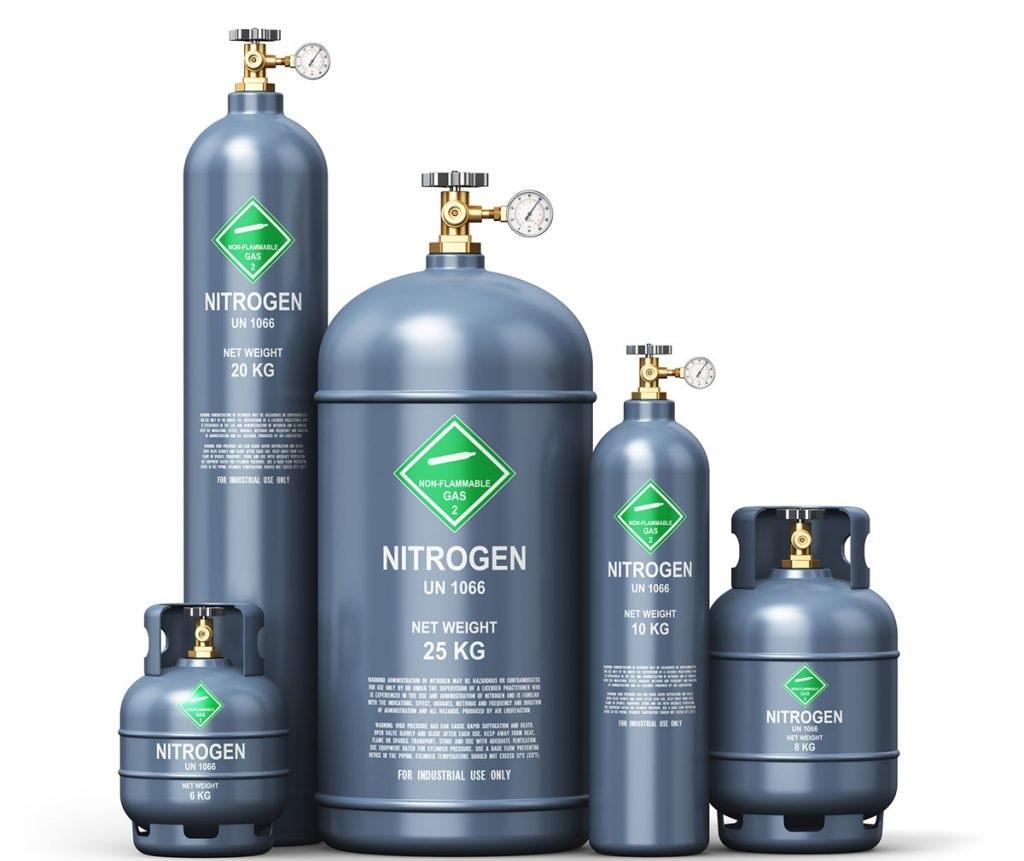 سیلندر گاز نیتروژن