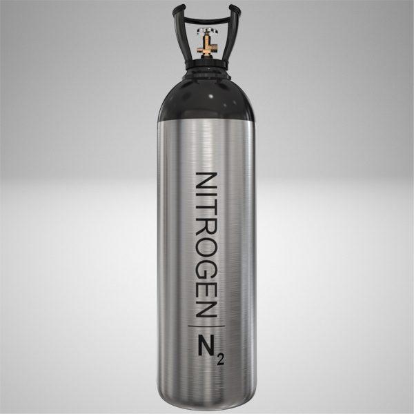 حجم سیلندر گاز نیتروژن و فشار کاری کپسول گاز آن چگونه است؟
