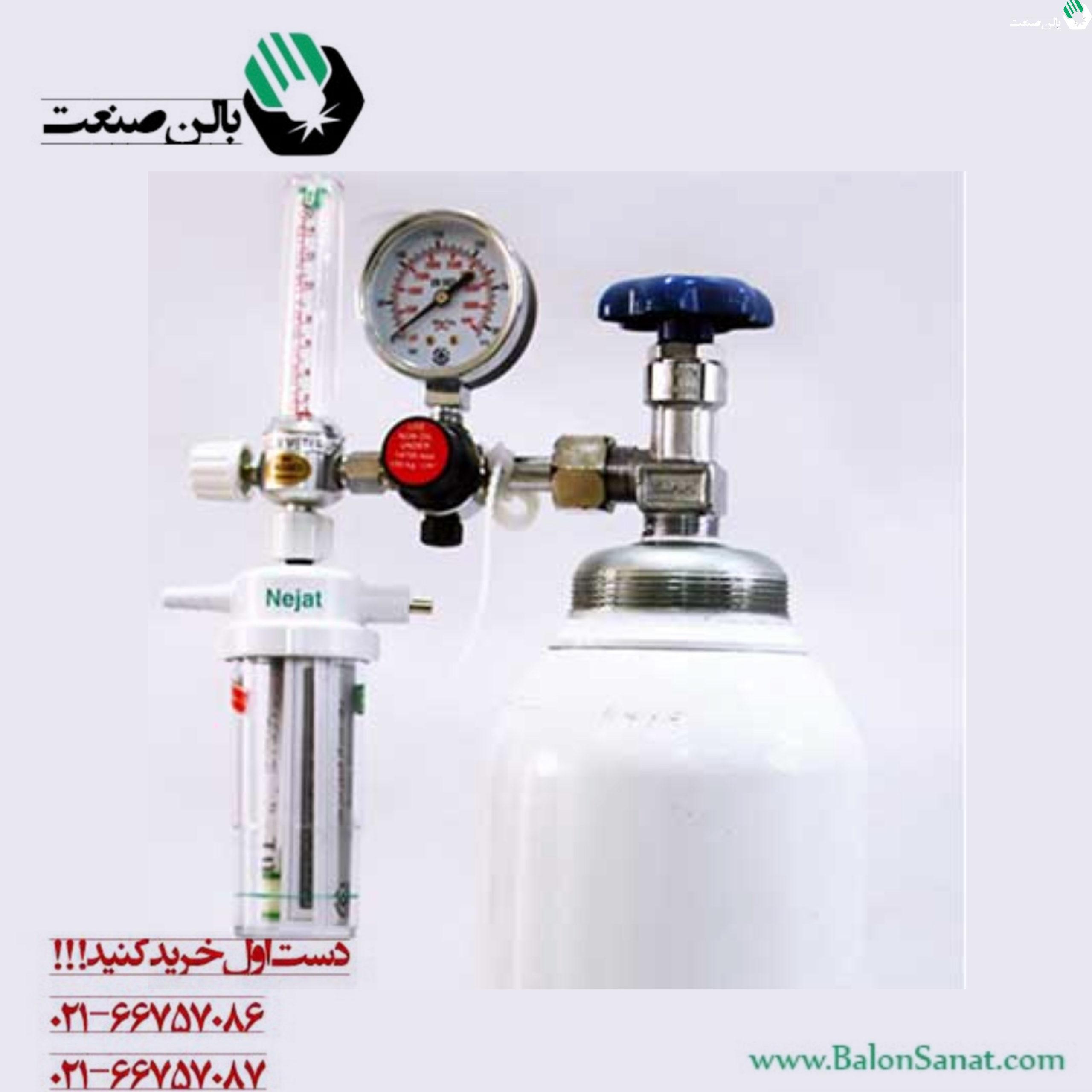 کپسول اکسیژن و مانومتر