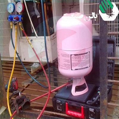 شارژ کردن کولر گازی اینورتر با گازR410a