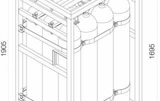 طراحی پالت کپسول اکسیژن